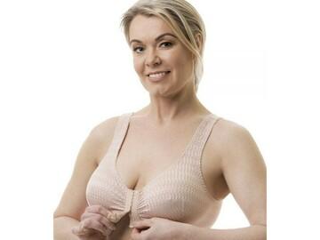 SALE: Front Closure Comfort Bras | Nude & White | B - DD