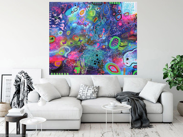 Sell Artworks: XXXL Inspiration 120 x 100cm Abstract Painting