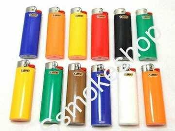 Post Now: SET OF 12 Regular Classic Full Size Cigarette Lighter Assorted Bi