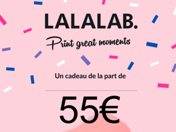 Vente: e-Carte cadeau LALALAB (55€)