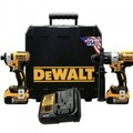 For Sale: DEWALT HAMMER DRILL AND IMPACT DRIVER KIT WITH 2 * 5AH BATTERY