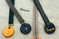 : Handmade Personalized Customized Air Dry Clay Bookmark