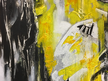 Sell Artworks: Black, white and yellow
