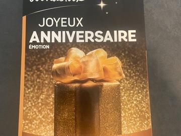 """Vente: Coffret Wonderbox """"Joyeux anniversaire - émotion"""" (49,90€)"""