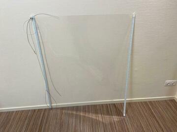Gebruikte apparatuur: flexi balie protection scherm