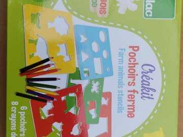 Vente: Pochoirs Bois Neuf (4 ans)