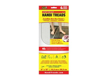 SALE: ClearGrip Non-Slip Vinyl Treads | Clear | 12 inch x 6 inch