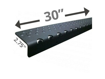 "SALE: Handi Treads Non-Slip Nosing, Aluminum   Black   30"" x 2.75"""