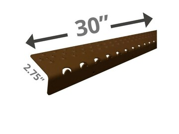"SALE: Handi Treads Non-Slip Nosing Aluminum   Brown   30"" x 2.75"""