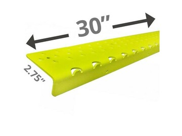 """SALE: Handi Treads Non-Slip Nosing, Aluminum   Yellow   30"""" x 2.75"""""""