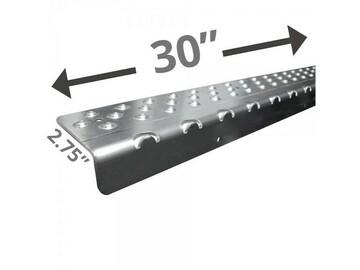 "SALE: Handi Treads Non-Slip Nosing, Aluminum   Gray   30"" x 2.75"""