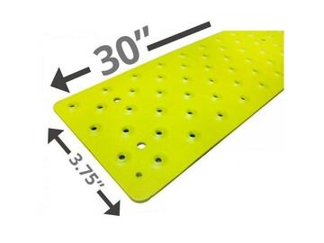 "SALE: Handi Treads Non Slip Tread, Aluminum   Yellow   30"" x 3.75"""