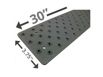 "SALE: Handi Treads Non Slip Tread, Aluminum | Black | 30"" x 3.75"""