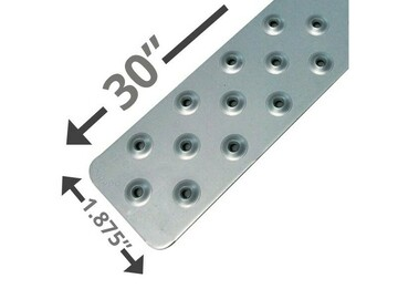 "SALE: Handi Treads Non-Slip Strip, Aluminum, Gray | 30"" x 1.875"""