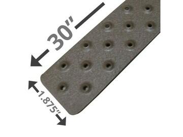 "SALE: Handi Treads Non-Slip Strip, Aluminum, Brown | 30"" x 1.875"""