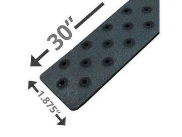 "SALE: Handi Treads Non-Slip Strip, Aluminum, Black | 30"" x 1.875"""