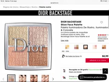 Buscando: Busco paleta de iluminadores de Dior Backstage
