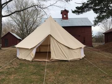 Custom : 16' Diameter Canvas Glamping Tent