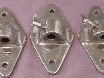 Selling with online payment:  3 - 1950s GRETSCH diamond floor tom leg mounts with