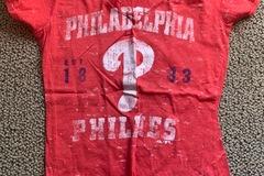 Selling A Singular Item: Adult Medium, Deep V-Neck, Phillies T-Shirt