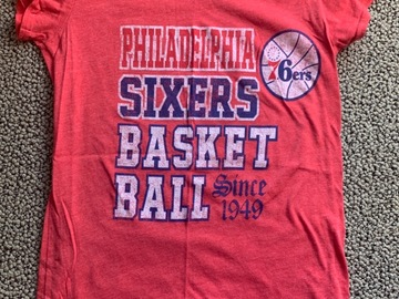 Selling A Singular Item: Adult Small Philadelphia 76ers T-Shirt