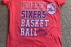 Selling A Singular Item: Adult Small Philadelphia 76ers T-Shirt
