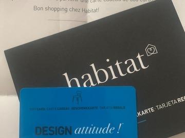 Vente: Carte cadeau Habitat (500€)