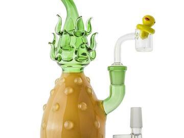 Post Now: Heady Glass Pineapple Theme Bong Set
