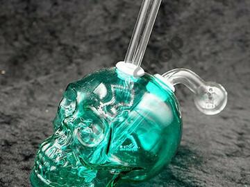 Post Now: Thick Skull Oil Burner Bubbler 5″- Green