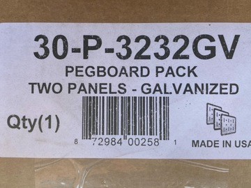 For Sale: Galvanized Steel Pegboards