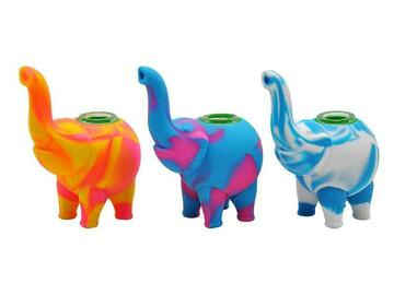 Post Now: Elephant Silicone Weed Bowl / Dab Pipe