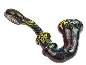 Post Now: Spiral Glass Sherlock Pipe w/ Maria Rings