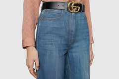Fashion Rental: GG Marmont leather belt with Gold buckle