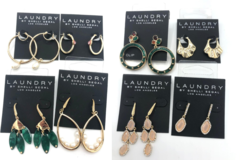 Liquidation/Wholesale Lot: 25 pair Laundry By Shelli Segal- Earrings assorted styles