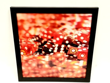 Liquidation/Wholesale Lot: Trends International Casino Red Dice 3-D Printed Frame