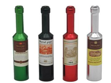 Post Now: Wine Bottle Novelty Weed Pipe