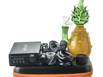 Post Now: Enail Dab Kit W/ Heady Glass Pineapple Theme Bong Bundle