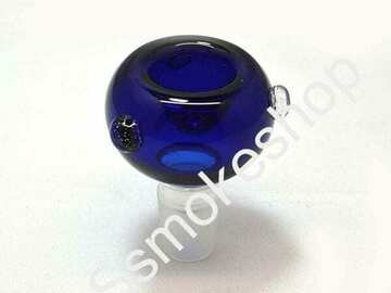 Post Now: 18 mm Glass on Glass Replacement Bowl Blue Round