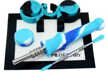 "Post Now: 6.5"" Silicone Nectar Straw Dab Kit"
