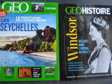 Vente: 1 magazine GEO 2020 + 1 GEO HISTOIRE 2021