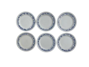 Vente: 6 Assiettes à dessert en porcelaine