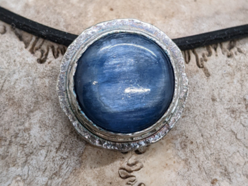 Selling: Kyanite and Textured Sterling Silver Necklace