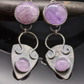 Selling: Cape Amethyst and Sterling Silver Shield Earrings