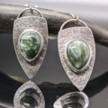 Selling: Seraphinite and Sterling Silver Shield Earrings
