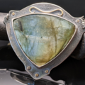 Selling: Labradorite, Sterling Silver and Brass Riveted Necklace