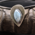Selling: Larimar and Sterling Silver Leaf Pendant Necklace