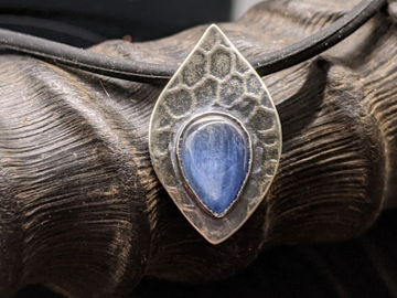 Selling: Kyanite and Sterling Silver Leaf Pendant Necklace