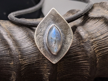 Selling: Labradorite and Sterling Silver Leaf Pendant