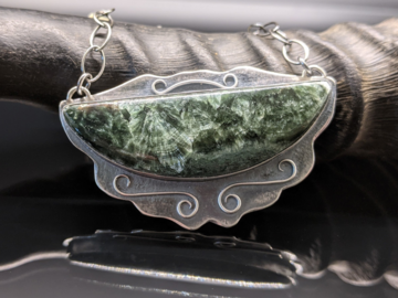 Selling: Seraphinite and Sterling Silver Necklace
