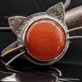 Selling: Carnelian and Sterling Silver Kitty Cat Necklace